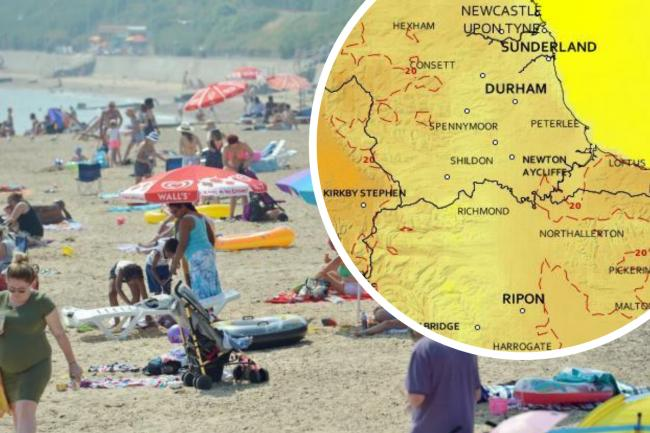 It's going to be a scorcher! The North-East to hit 30c later today