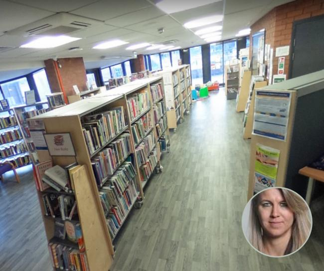 The Rainbow Leisure Centre library in Middlesbrough and Councillor Mieka Smiles, Middlesbrough Council's Executive member for Culture & Communities