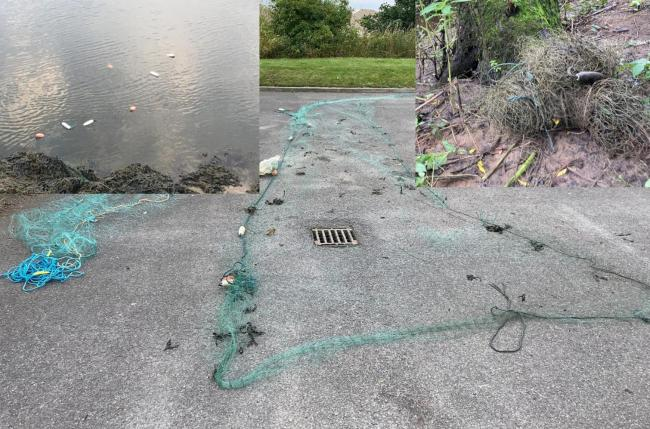 Illegal nets found in the River Wear