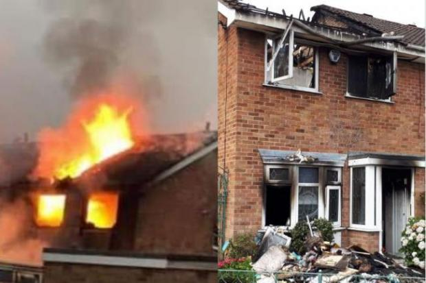 A house at Haxby was extensively damaged after being hit by lightning