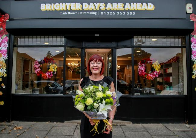 Bouquet of the week this week is Hairdresser Trish Brown Picture:SARAH CALDECOTT