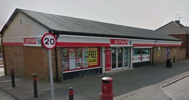 Shop thief turned robber when challenged by assistant at Spar store in Mendip Avenue, Chester-le-Street   Picture: GOOGLE