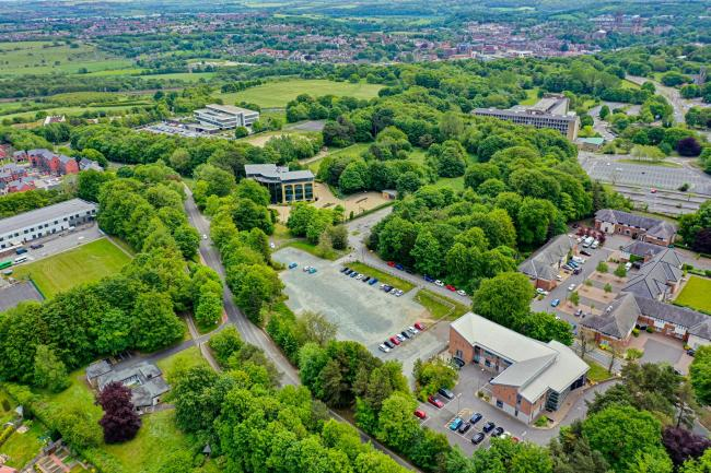 An aerial of the proposed Aykley Heads Business Park, which will enable the creation of office space on 'Plot C'