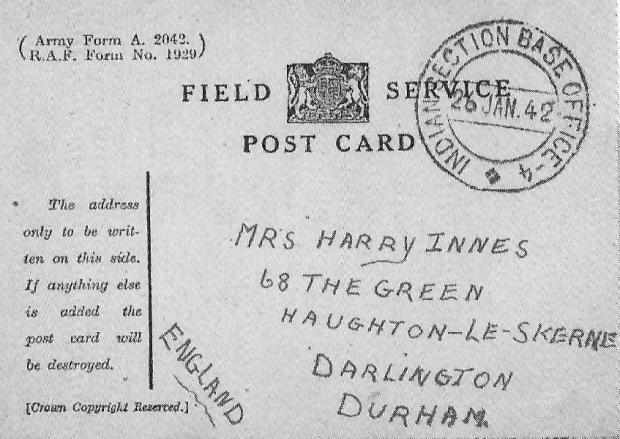 The Northern Echo: One of Harry's letters home to Phoebe on Haughton Green