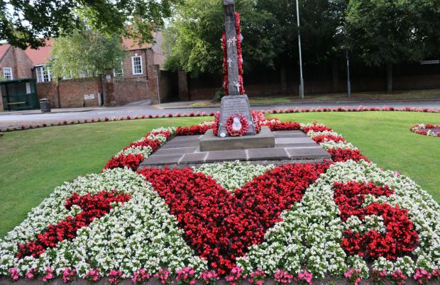 The Northern Echo: Today's service at the immaculate Haughton War Memorial starts at 10.45am