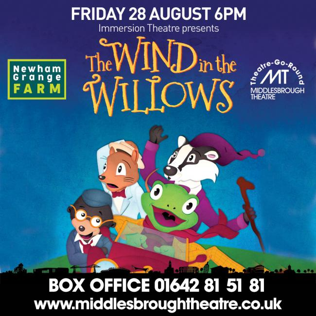 Immersion Theatre will bring their performance of the Wind and the Willows to Newham Grange Farm  this month
