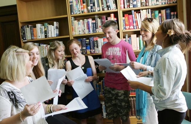 Are you among this group of students who opened their A-level results at Polam Hall School, Darlington, in 2010? Tell us what you are up to now