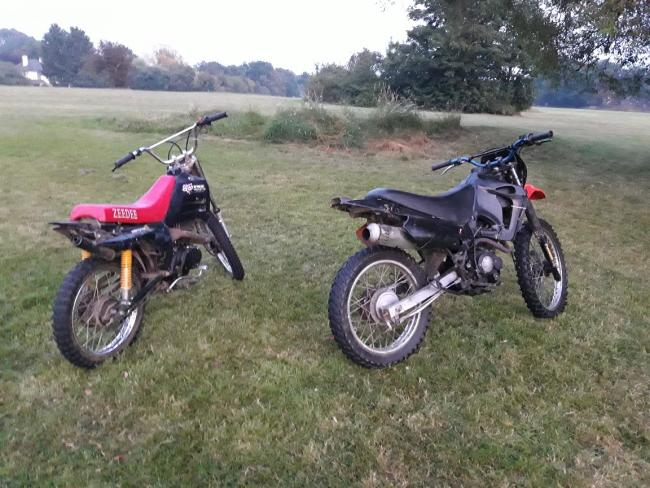 The two off road bikes