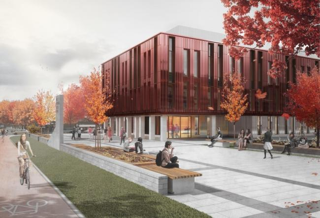 A CGI of the Northern School of Art, which is under construction