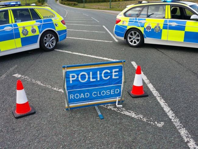 Police are dealing with a crash near Consett