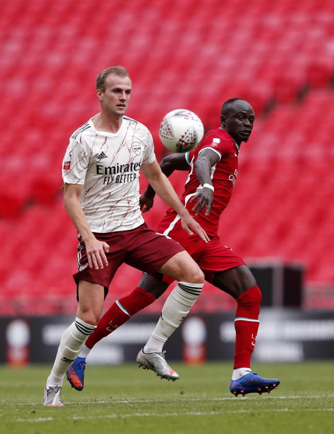 Rob Holding was part of the Arsenal team that beat Liverpool in the Community Shield (Picture: PA Wire)