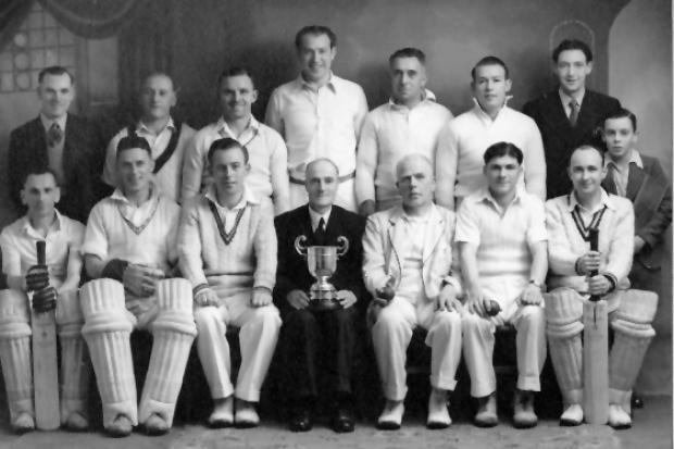 North Bitchburn Cricket team in the 1950's, with Wheldon Curry