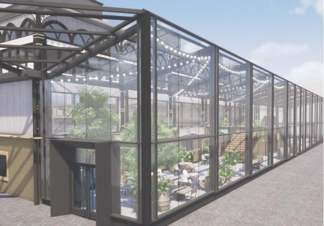 An artist's impression of the planned Temperate Garden at Darlington Victorian Market