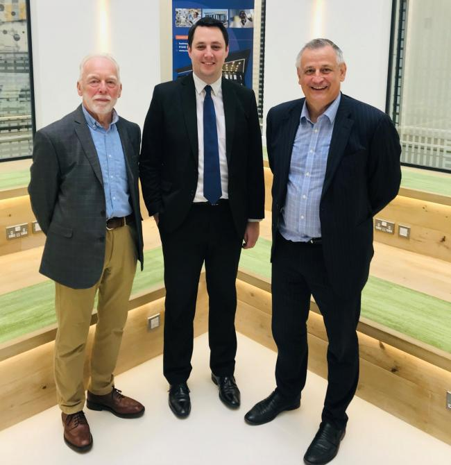 Councillor Alan Marshall, Tees Valley Mayor, Ben Houchen, Mark Ladyman  pic taken from 2019 Business Week event