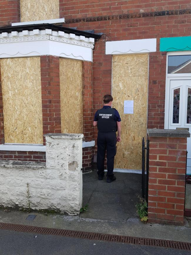 The council secured a property closure order on a house in Longfield Road after reports of suspected drug dealing at the terraced house