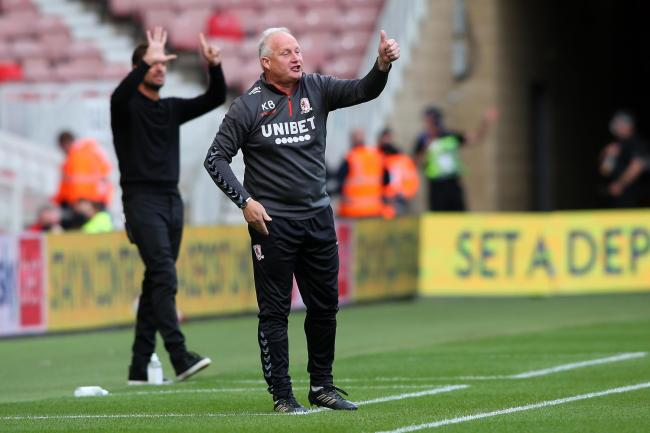 Kevin Blackwell issues some instructions during Middlesbrough's draw with Bournemouth