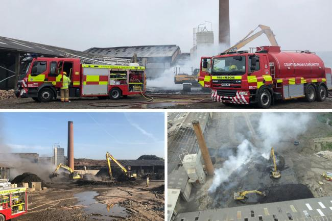 Firefighters have made 'excellent progress' putting out last of fire at former Eldon Brickworks in Bishop Auckland Picture: CDDFRS