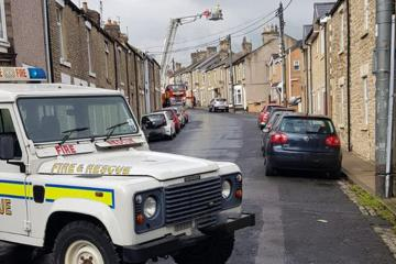 Firefighters have extinguished a chimney fire in Crook