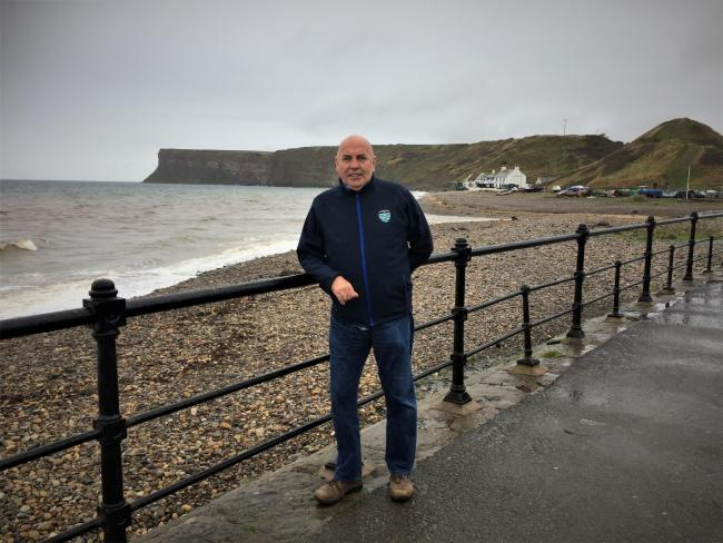 Fundraiser Eddie McNamee at Saltburn, where many of his charity walks have started. Picture: Peter Barron