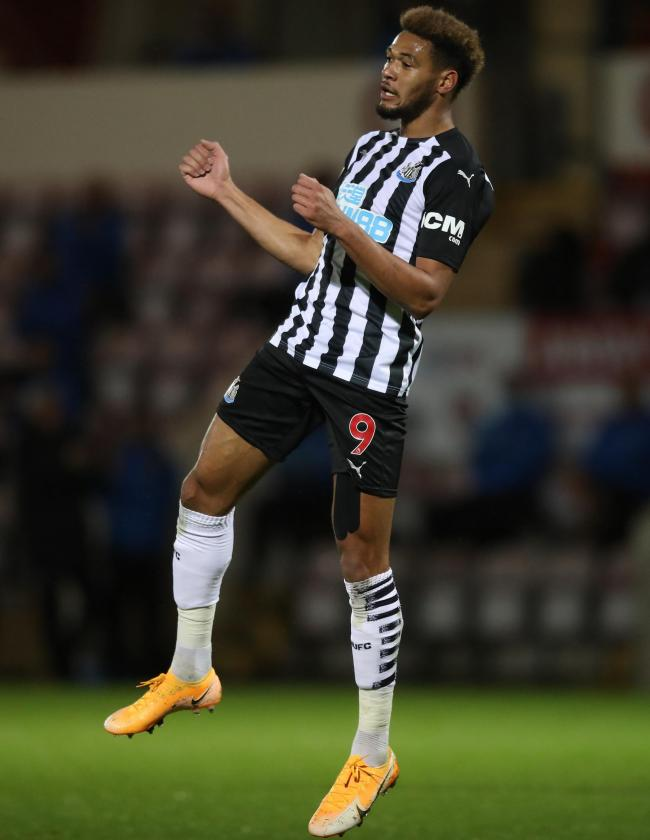 Joelinton scored in Newcastle's midweek win at Morecambe