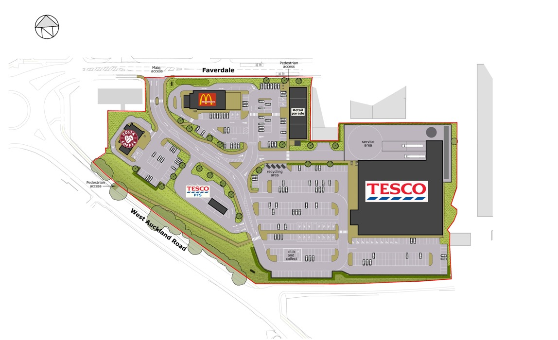 Plans For New Tesco Superstore And Mcdonald S Drive Thru In Darlington The Northern Echo