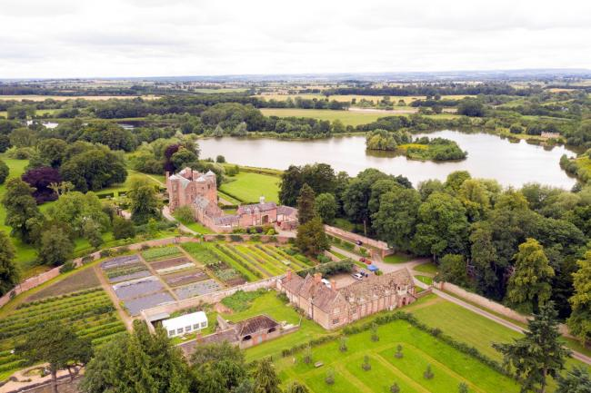 Kiplin Hall and Gardens a popular heritage attraction is located between Northallerton and Richmond in North Yorkshire countryside 			          Picture: DRONEPREP