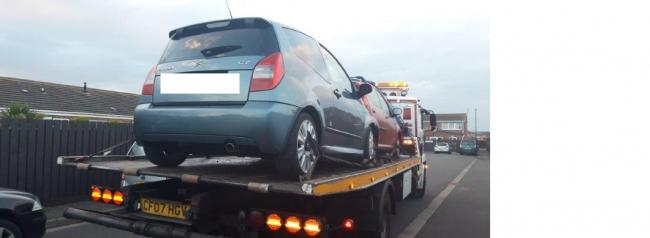The Citroen vehicle seized by police
