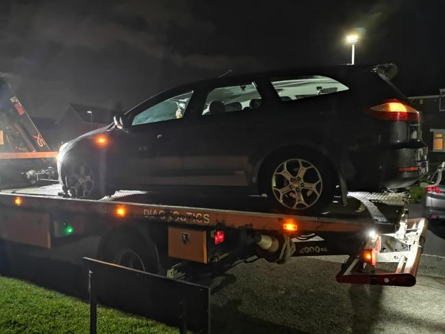 The car that police seized