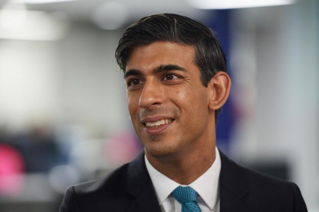 "Chancellor of the Exchequer Rishi Sunak during a visit to the headquarters of Octopus Energy in London. PA Photo. Picture date: Monday October 5, 2020. They visited the British ""tech unicorn"" - a startup company valued at more than USD$1 billion"