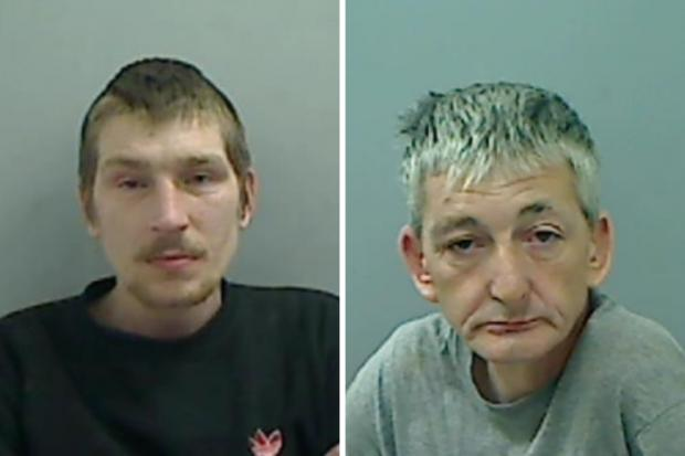 The Northern Echo: Shaun Briggs, left, and James Purdie, right, have been jailed for armed robbery