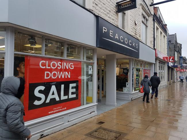 Peacocks in Bishop Auckland is one of many stores to permanently close in the town