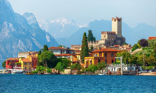 Malcesine on the shores of Lake Garda