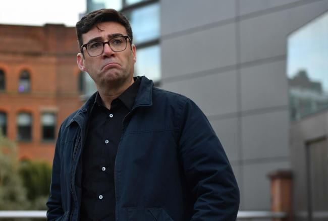 Greater Manchester mayor Andy Burnham after speaking to the media outside Bridgewater Hall, Manchester, following last-ditch talks with the Prime Minister aimed at securing additional financial support for his consent on new coronavirus restrictions. Grea