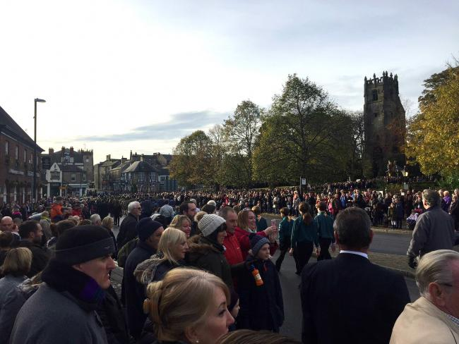 Crowds line to streets of Richmond to watch the Remembrance Sunday Parade. Picture: Ashley Barnard.
