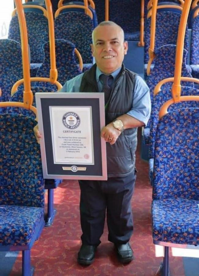 Frank Hachem,the World's Shortest Bus Driver, who died in hospital after he fell ill at his home in Havant, Hampshire, on Tuesday