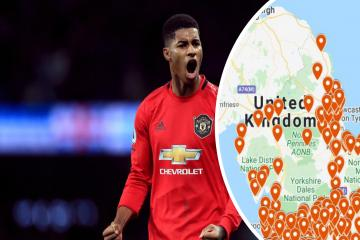 Marcus Rashford: Interactive map shows everywhere offering free meals