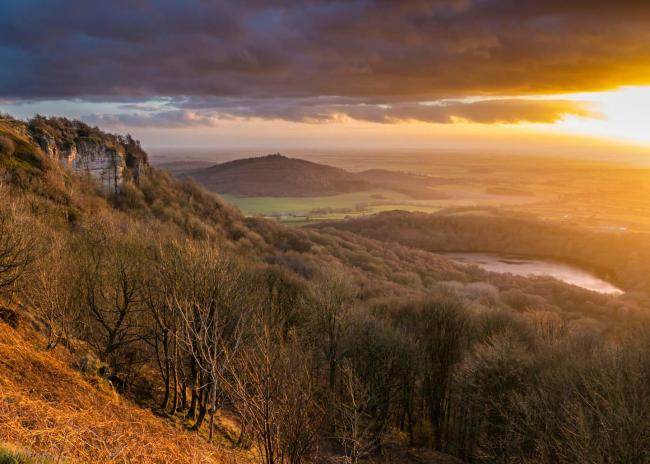 Terry Piper Sunset at Sutton Bank.