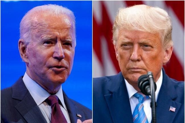 Joe Biden and Donald Trump Pictures: PA