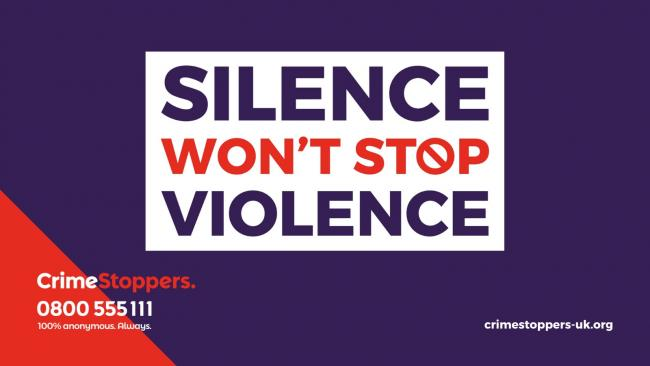 Silence Won't Stop Violence campaign has been launched by Crimestoppers