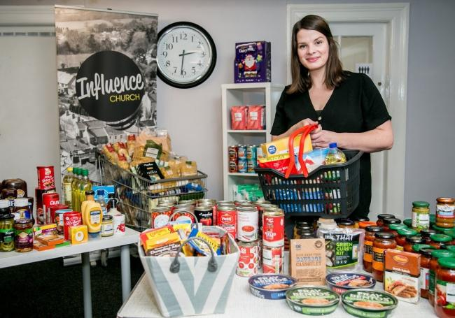 Sophie McGuinness from Influence Church in Richmond who have created a community shop food bank Picture: SARAH CALDECOTT