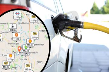 The cheapest stations to top up your car in County Durham