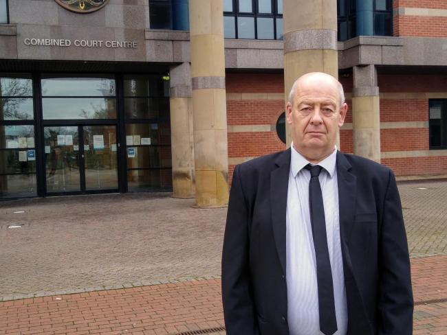 John Harker, Natalie's father, outside Teesside Crown Court