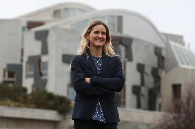 Kim Leadbeater, the sister of murdered MP Jo Cox, outside the Scottish Parliament in Edinburgh where she is due to meet politicians and is also promoting The Great Get Together event on 21-23 June. PRESS ASSOCIATION Photo. Picture date: Wednesday March 27
