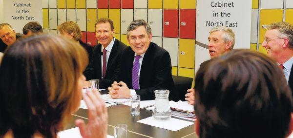 UNDER WAY: Prime Minister Gordon Brown opens a Cabinet meeting at Durham Johnston School, in County Durham – the first Cabinet meeting in the North-Eas