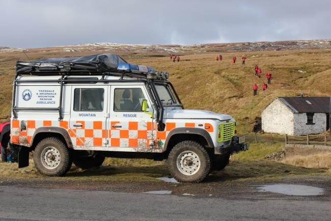 Teesdale and Weardale Search and Mountain Rescue Team (TWSMRT) on a previous exercise