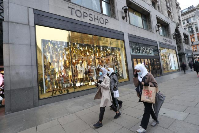 A general view of the Topshop store on Oxford Street. Plans for an emergency multimillion-pound loan to Sir Philip Green's struggling Arcadia Group, of which Topshop is a part of, have reportedly fallen through. PA Photo. Picture date: Monday November