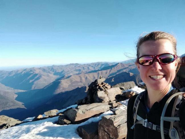 Esther Dingley sent this selfie to partner Dan Colegate before going missing in the Pyrenees