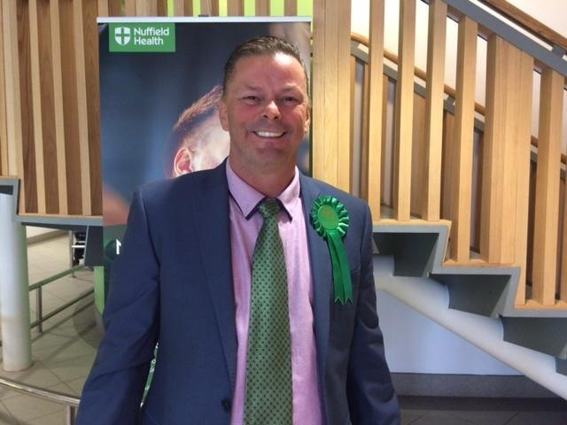 Kevin Foster, newly elected Green Party representative for Colburn