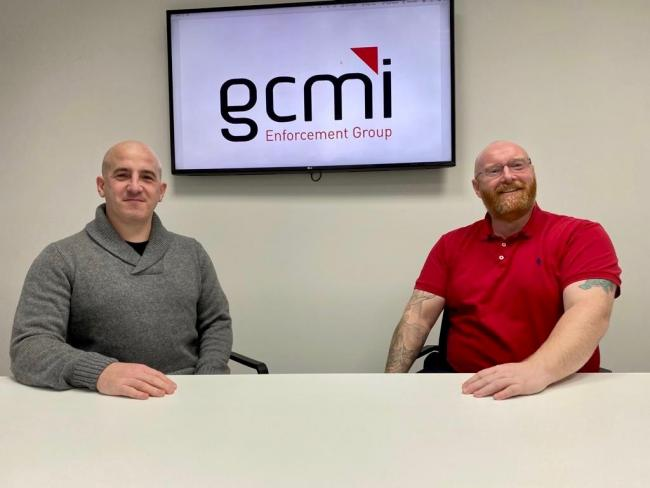 GCMI Enforcement Group's directors Liam Bailey and Kevin Crompton