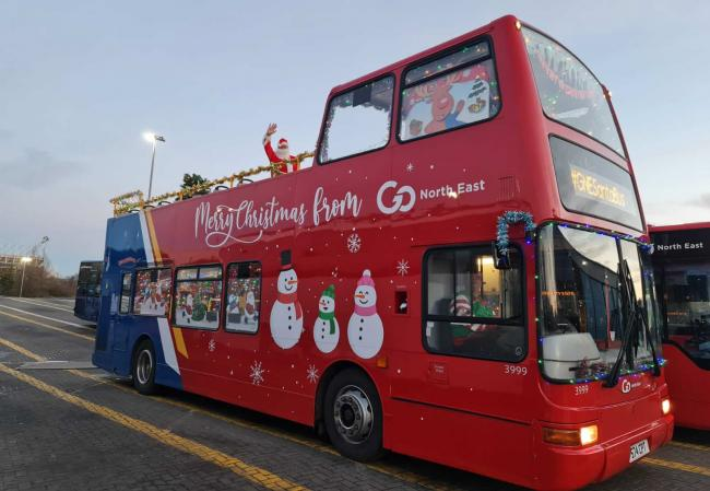 A festive bus will be visiting these North-East locations up until Christmas Eve